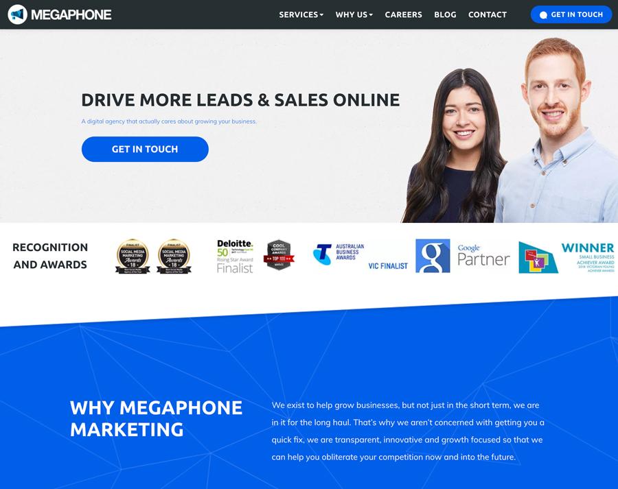 Megaphone website