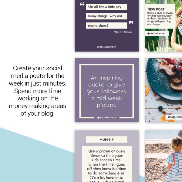 Blogger social media templates