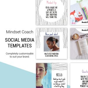 mindset coach social media template