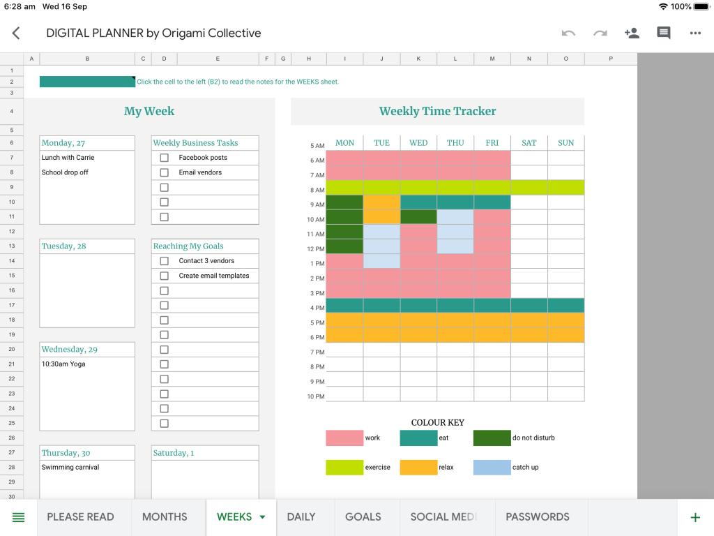 weekly digital planner